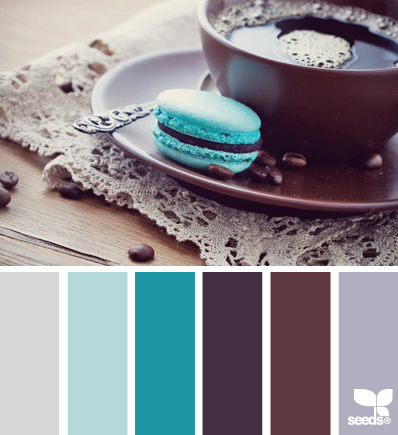 plum and blue colors