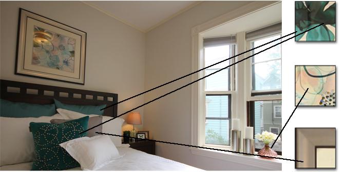 bedroom repeats colors