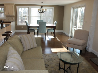 great room before home staging