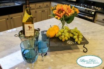 accessorized kitchen counter