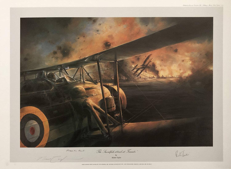 The Sword Fish Attack At Taranto Robert Taylor Framed Prints