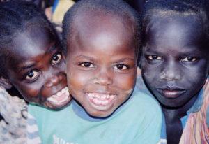 Refugee boys at Kakuma Refugee Camp, Uganda, in 2001.