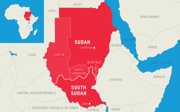 South Sudan and neighboring countries.