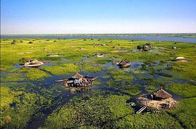 "South Sudan wetland, called ""Sudd."""