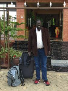 Jacob in transit to South Sudan.