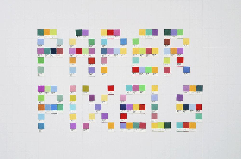 Pantone Paper Pixels Hiten Bhatt