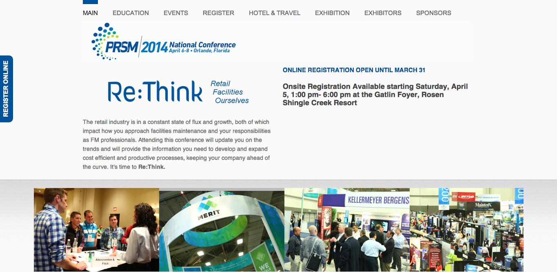 PRSM2014 Home Page Screen Shot