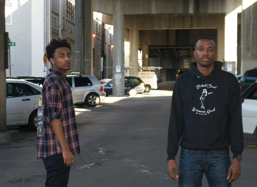 Aminé [left] with producer/manager Jahosh [right]
