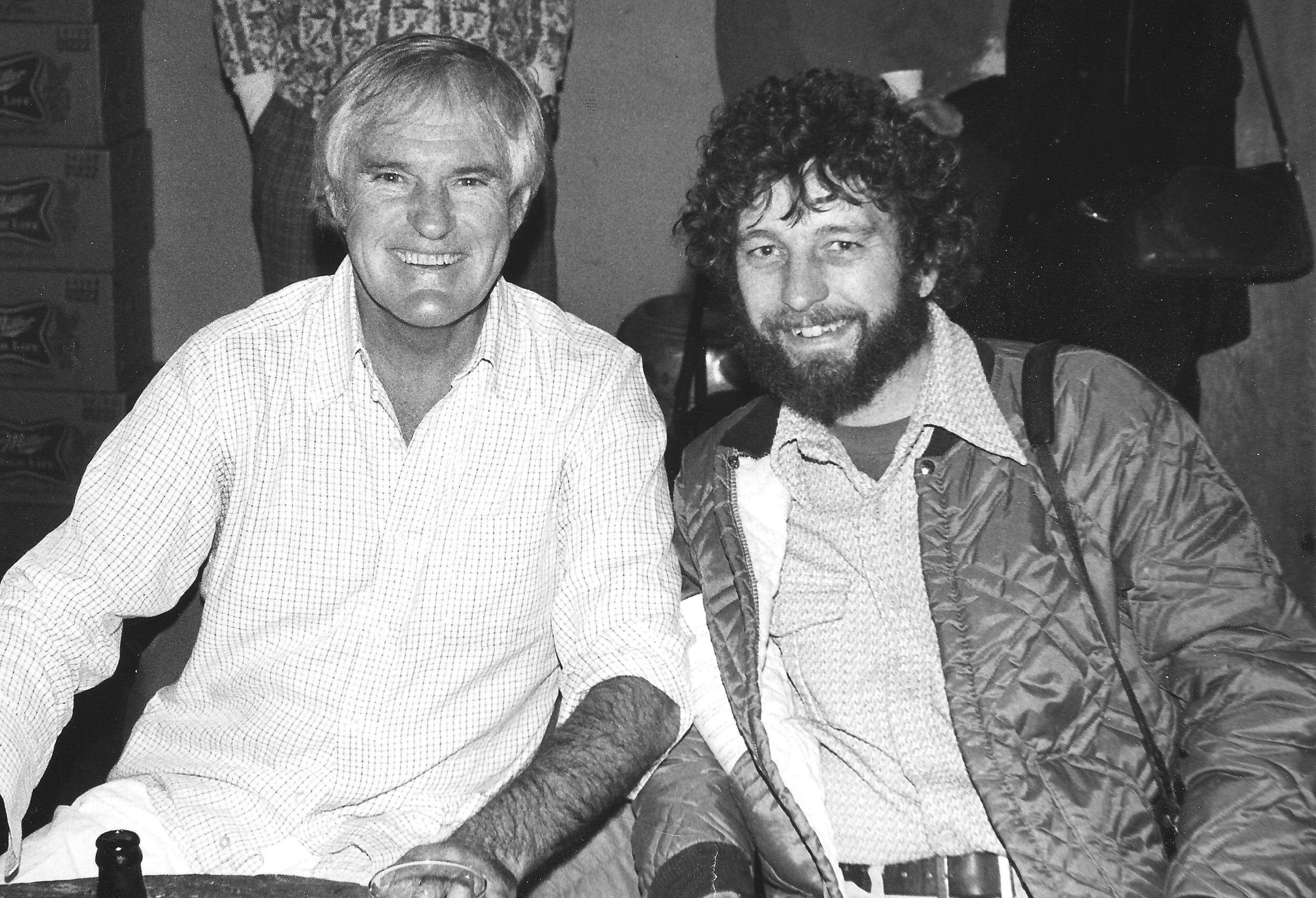 Mike (right) with Timothy Leary