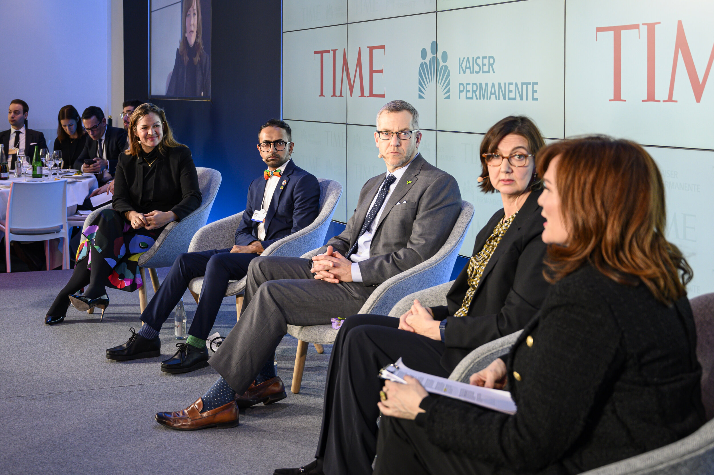 TIME and Kaiser Permanente's panel on mental health at Davos 2020 featuring Naeem Dalal and Miranda Wolpert