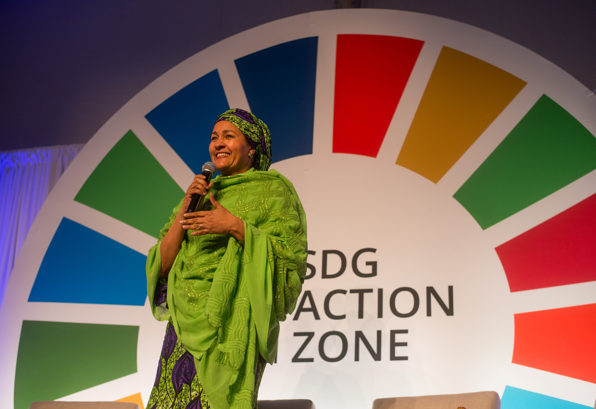 Amina J Mohammed, Deputy Secretary-General of the UN at the launch of Speak Your Mind during UNGA in September 2019