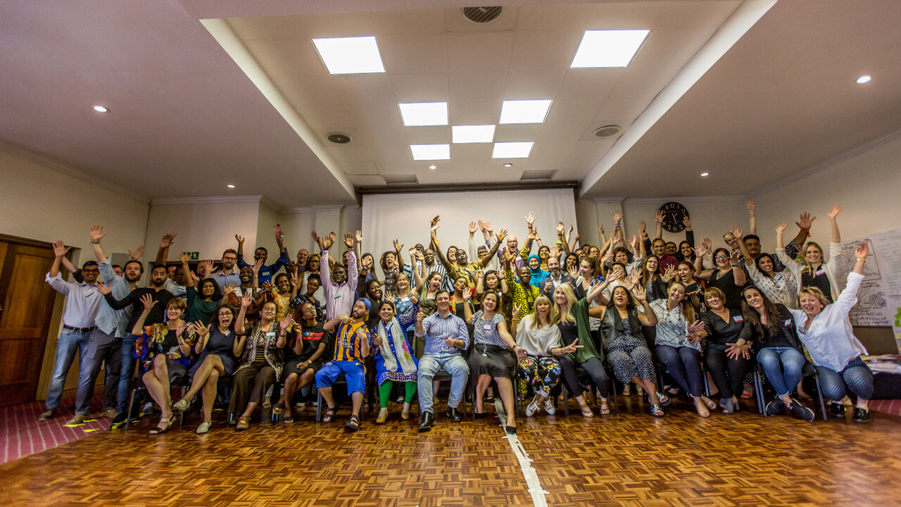 Campaigners and partners at the Johannesburg meeting in January 2019