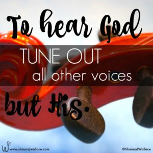 To hear God, tune out all other voices but His.