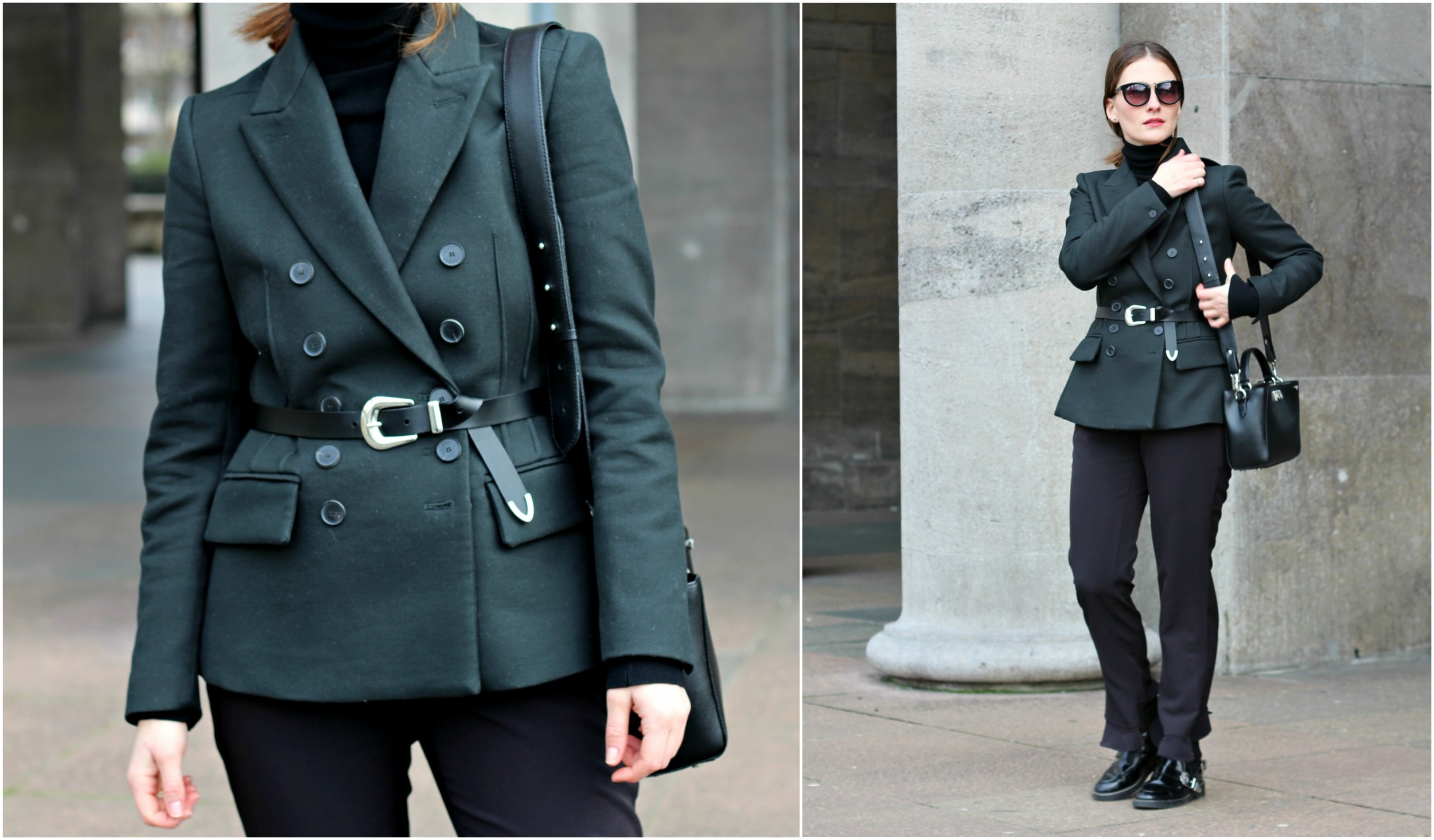 annaporter-double-breasted-blazer-dark-green-mango-business-look-collage