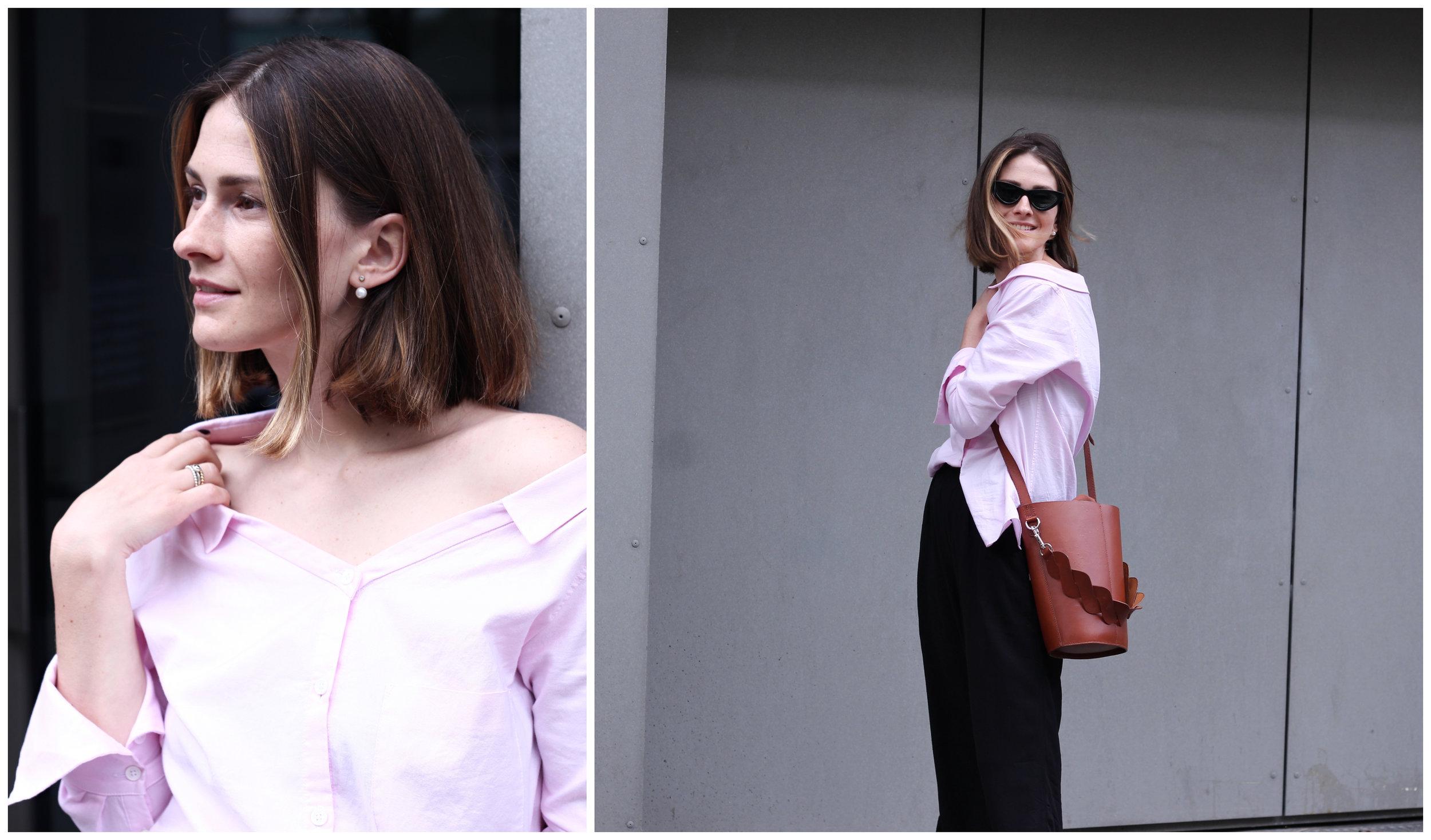 annaporter-offshoulder-shirt-drykorn-otherstories-ballerina-shoes-collage