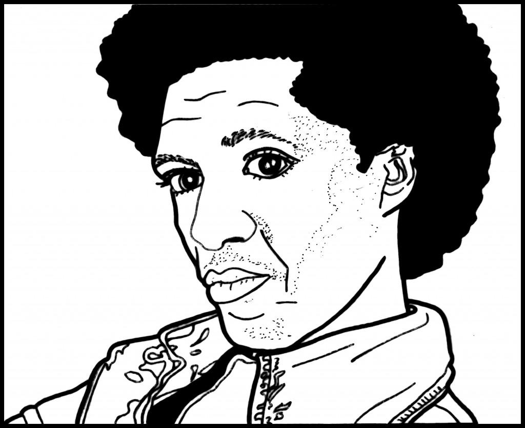 Lemn Sissay illustration with border - Suzana Ceallais April 2013
