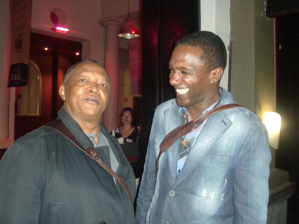 Hugh Masekella and I in SOuth Africa 2010