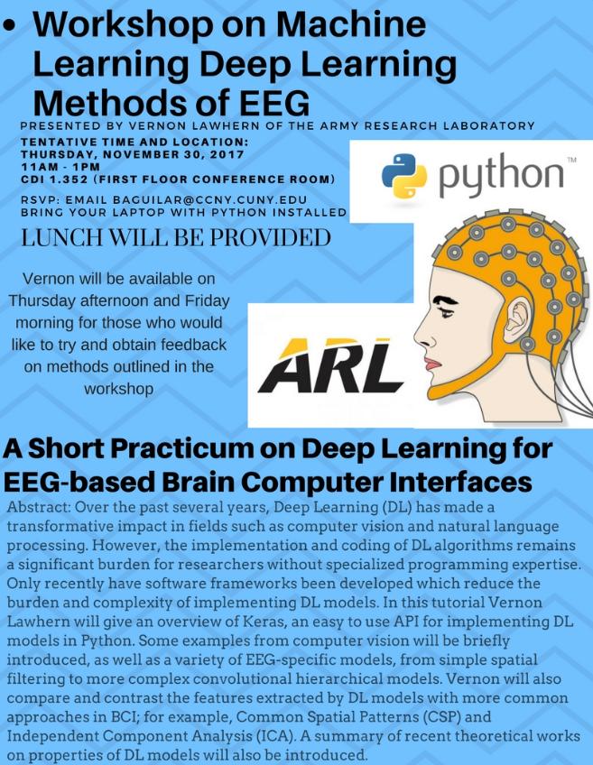 Neural Engineering Group hosts workshop on Deep Learning