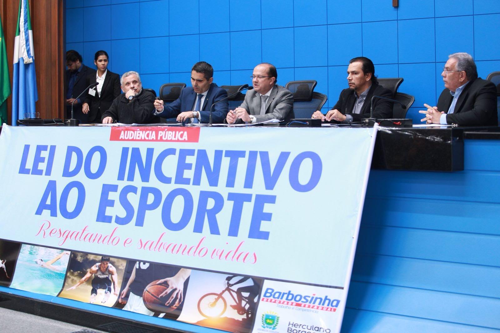 Deputado Barbosinha comanda audiência pública que pede incentivos ao esporte. Fotos: João Garrigó