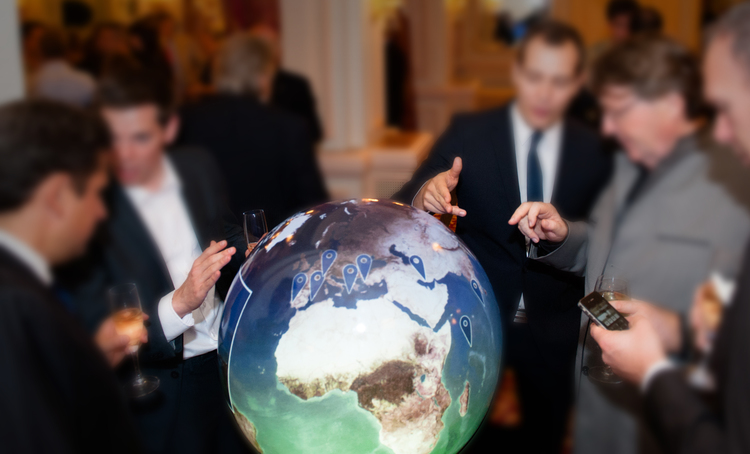 interactive Globe during event