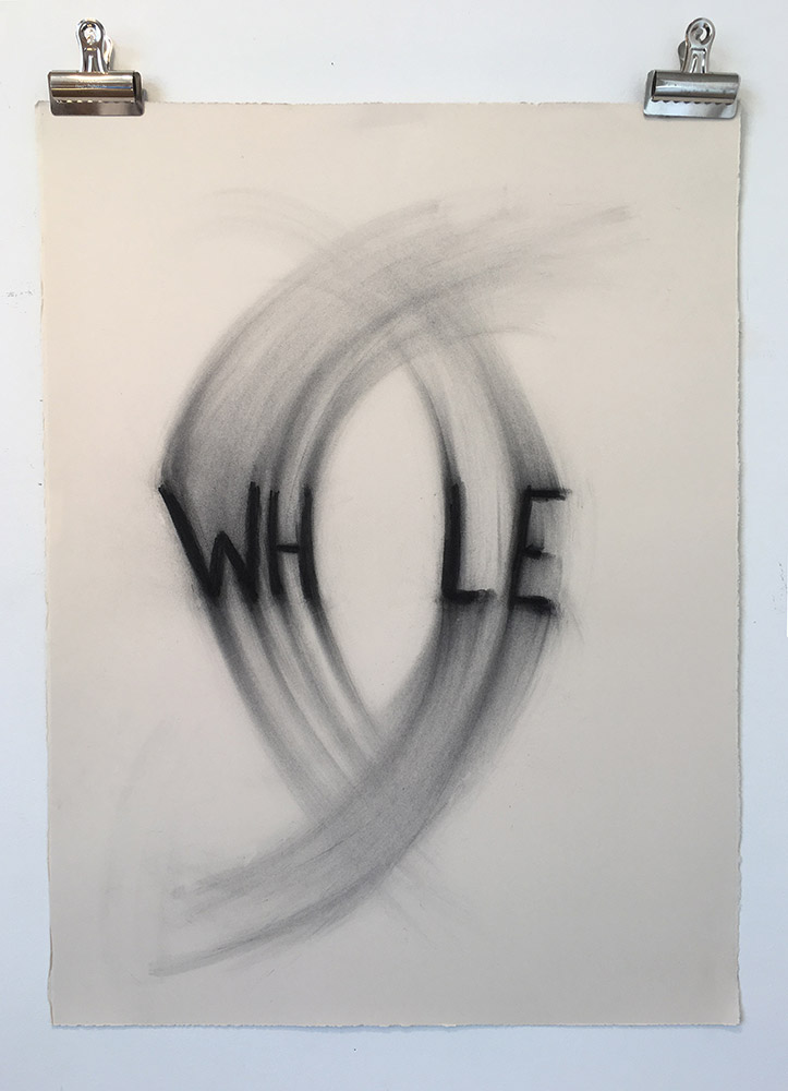 """untitled (whole), 22"""" x 30"""", charcoal on paper (somerset deckled  100% cotton rag) Edition of 3 with 3 APs (framing options available at additional cost)"""