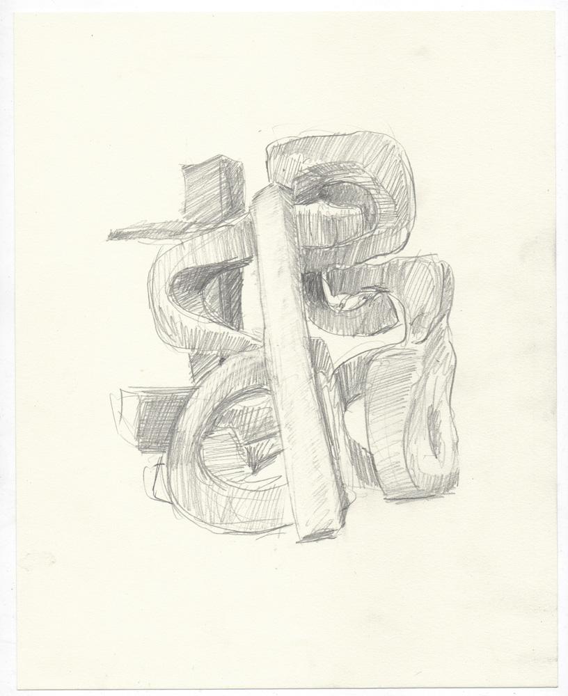 """stead"" graphite on paper, 8"" x 10"""