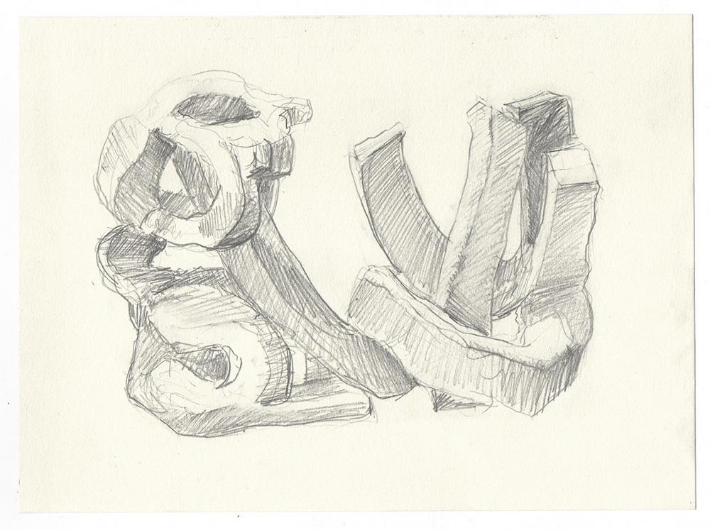 """guy"" graphite on paper, 6"" x 8"""