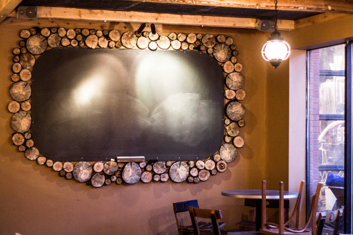 manitou brewing used waldo canyon timber for their chalkboard border