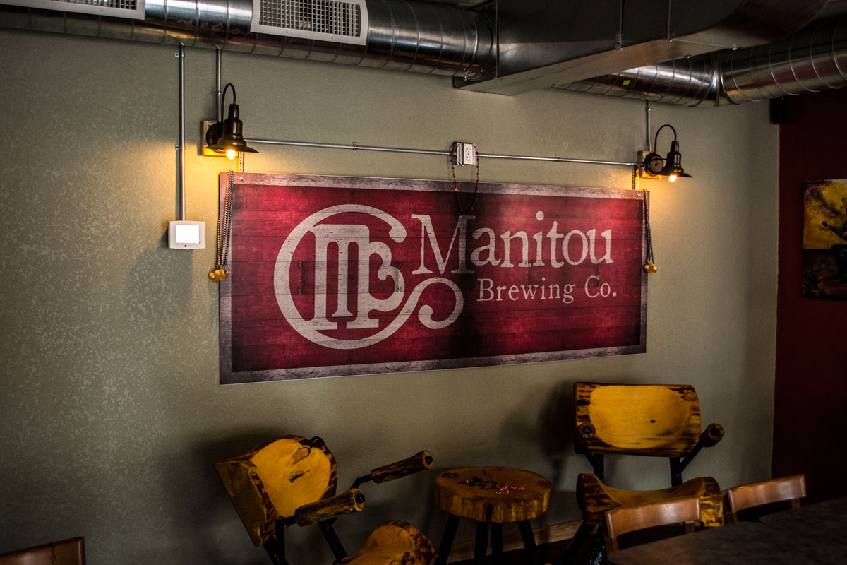 Manitou Brewing Company sign