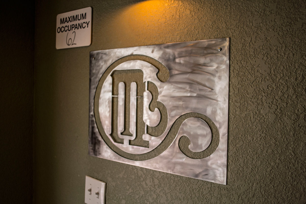 Manitou Brewing Company metal sign