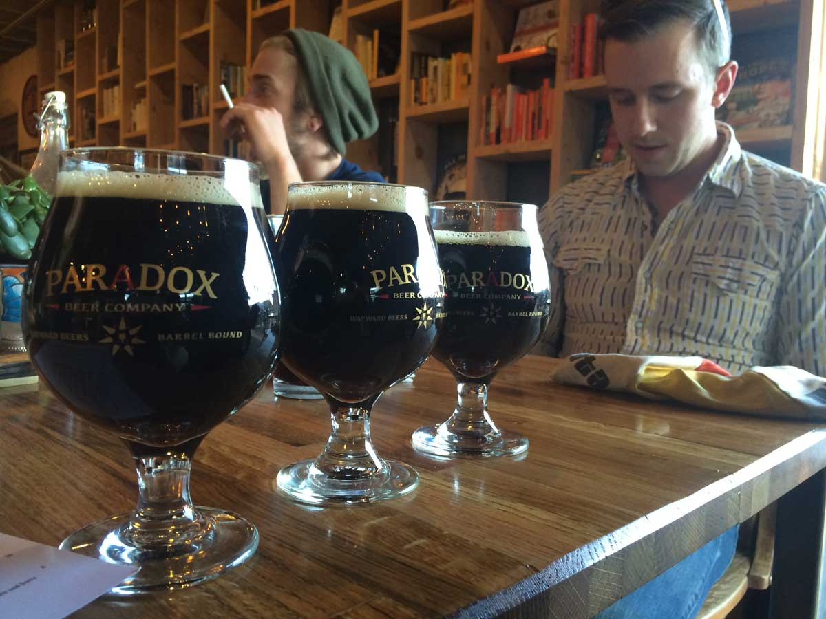 The first twelve lucky fans got to take home a nice Paradox Beer Company belgian glass!