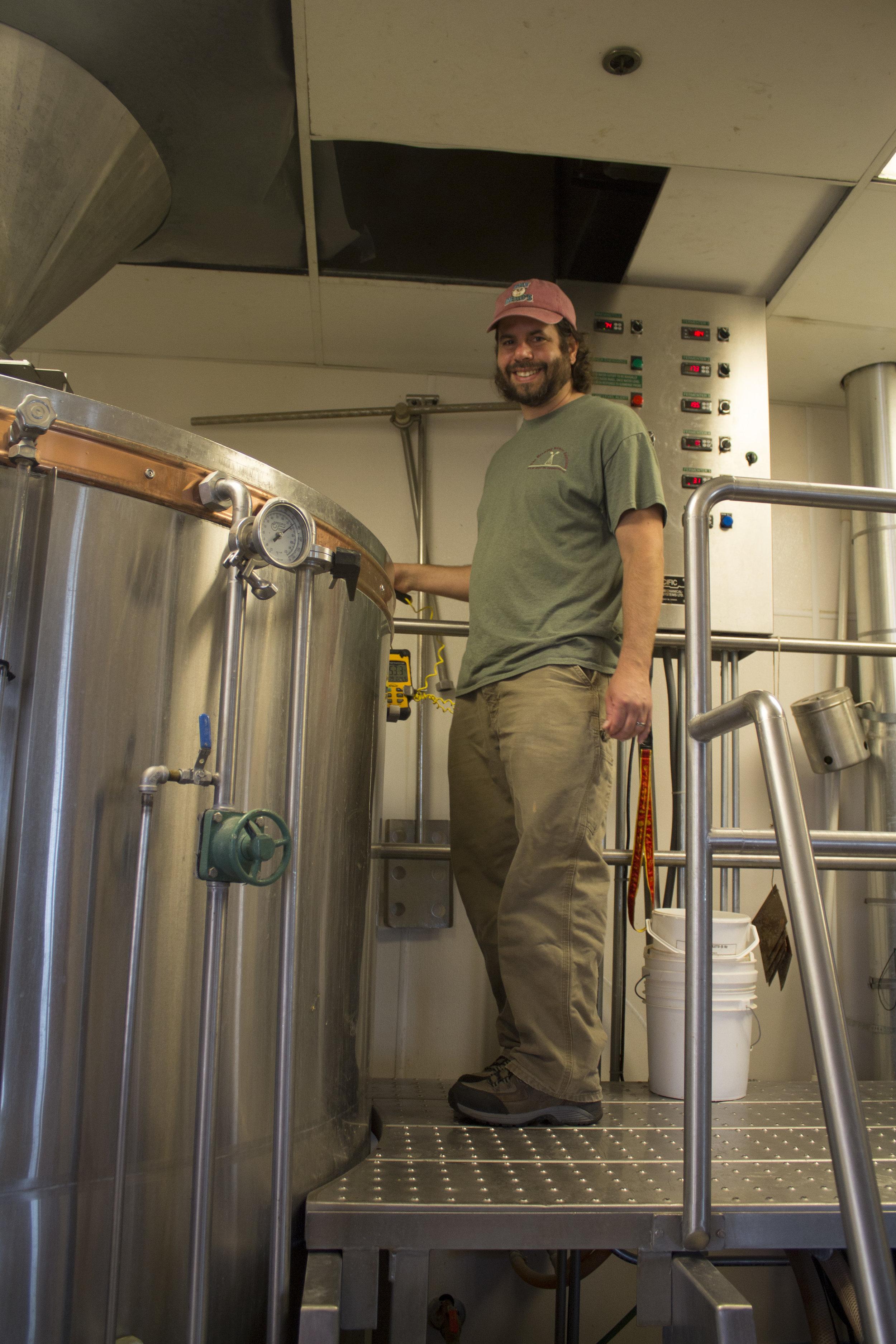 Dan Ramos prepares to brew his session IPA with Rockyard Brewing
