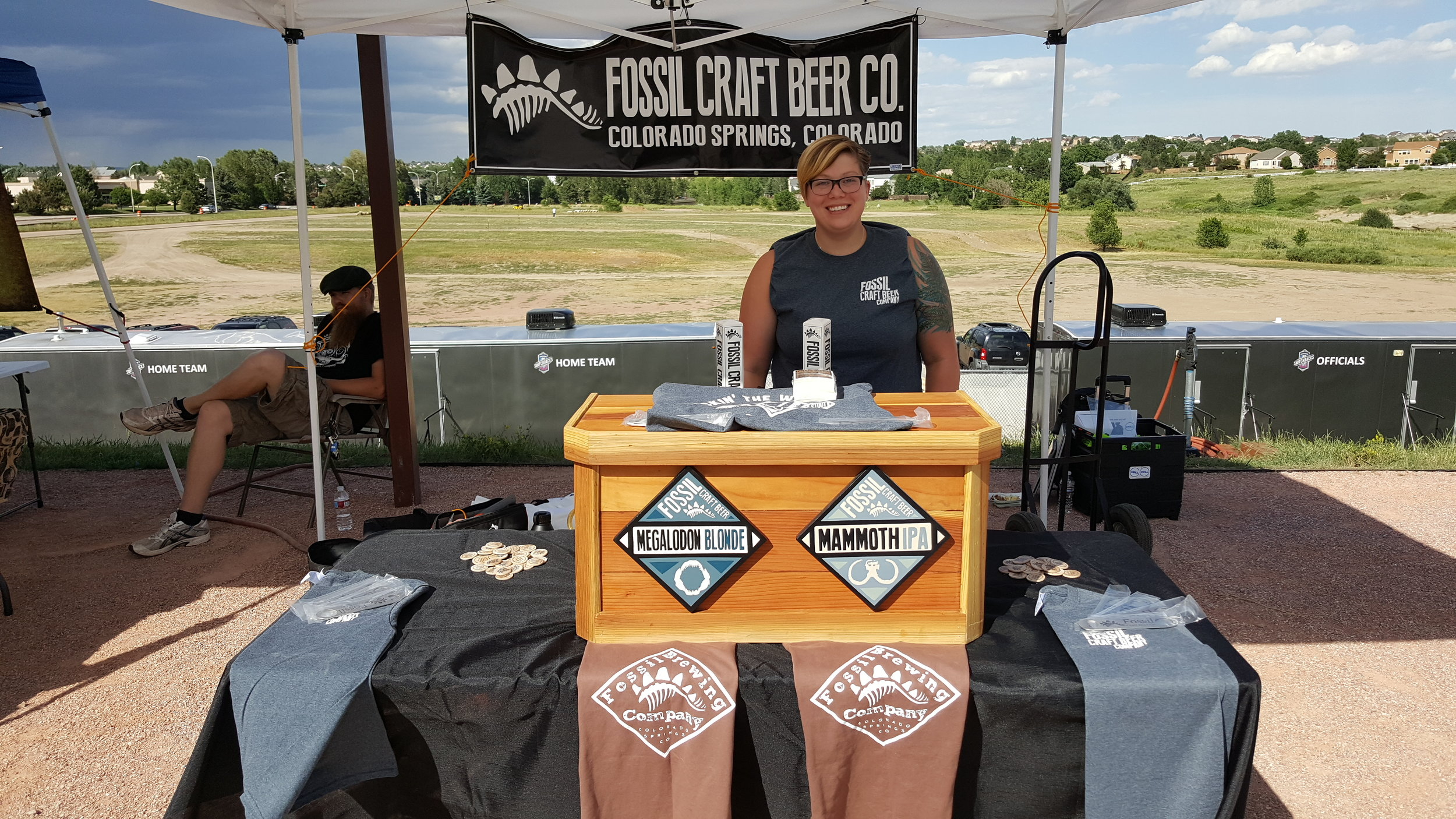 Fossil Craft Beer 719 Day booth