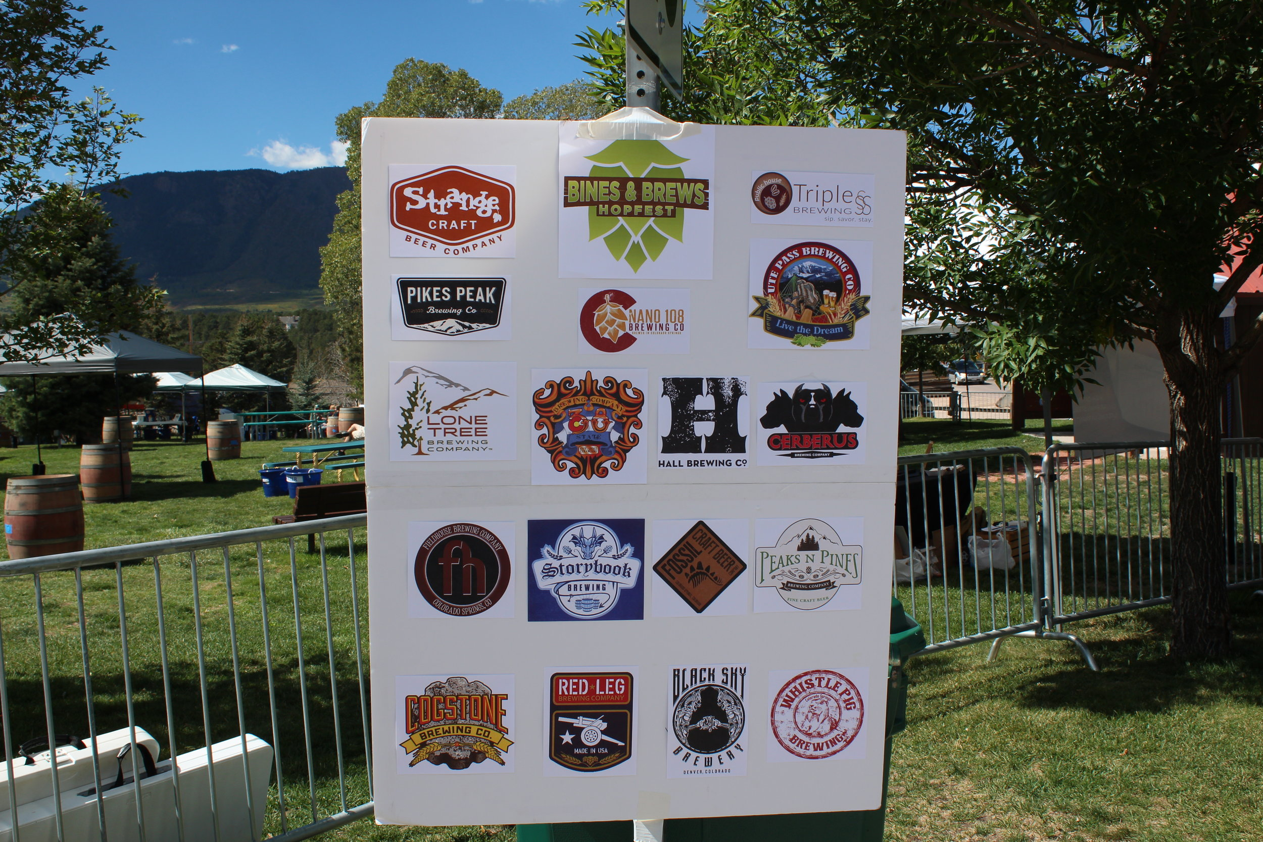 The 16 breweries (and one distillery) in attendance.