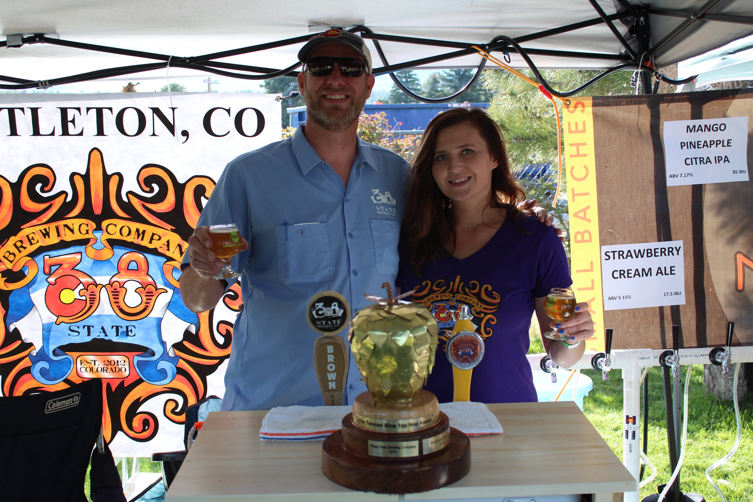 38 State Brewing with their well deserved Top Hop trophy!