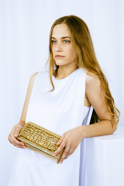 Gold Laced Amoeba Clutch