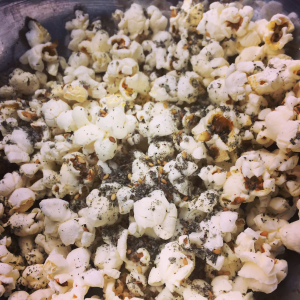 Popcorn with Bin Izheiman zaatar spice mix