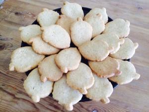 My acorn-shaped walnut shortbread cookies.