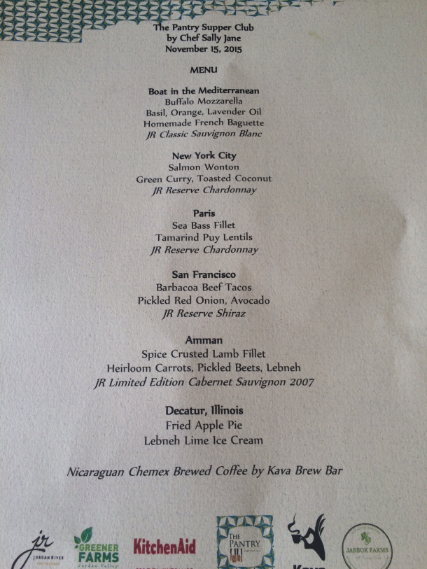 The menu - a little rumpled.