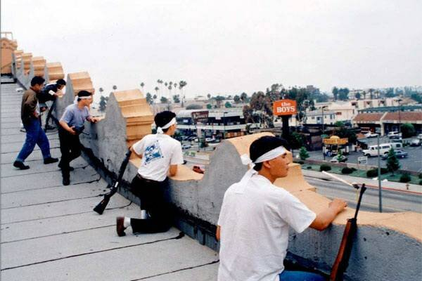 Korean shop owners during the 1992 LA riots.