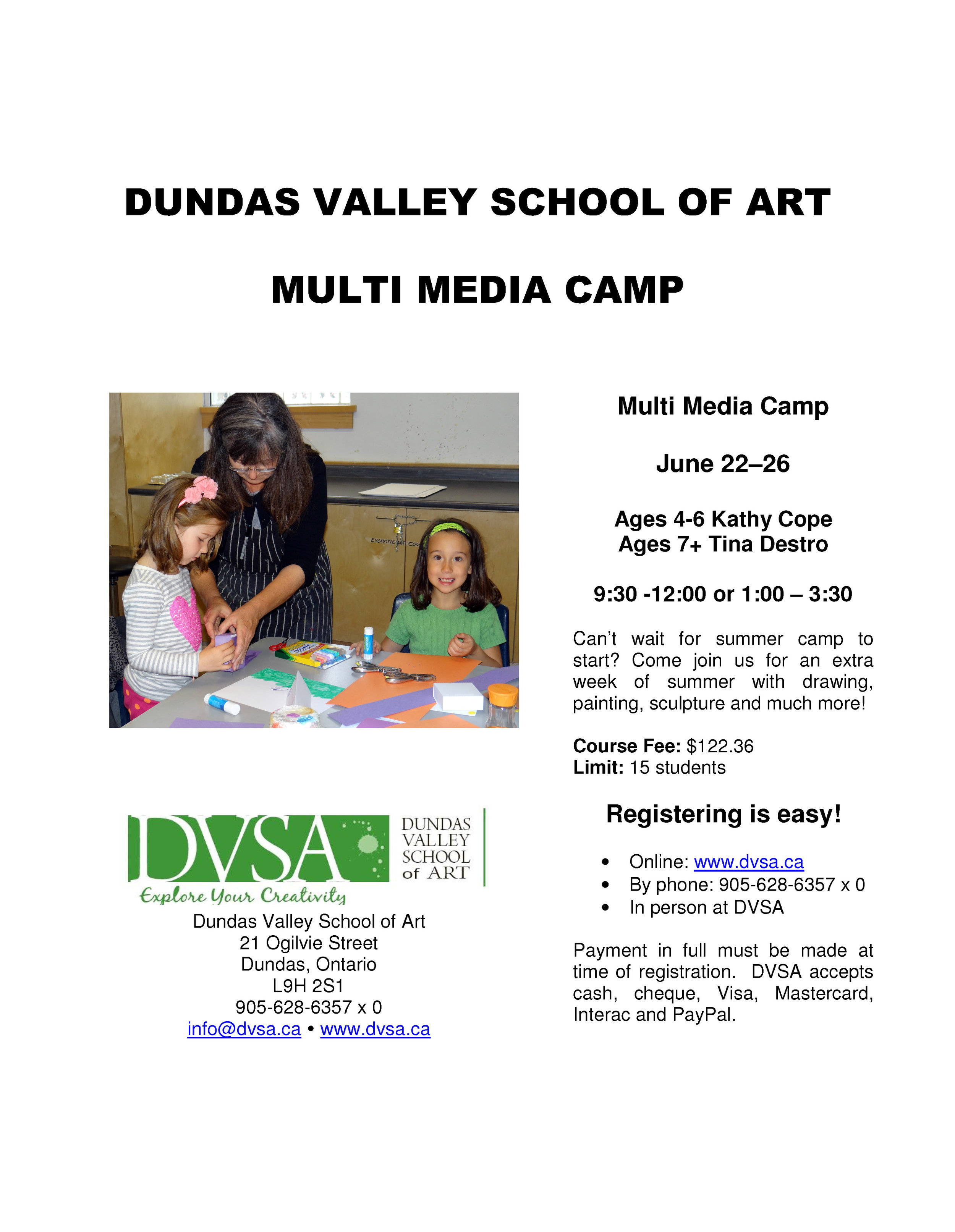 DVSA multimedia camp 2015
