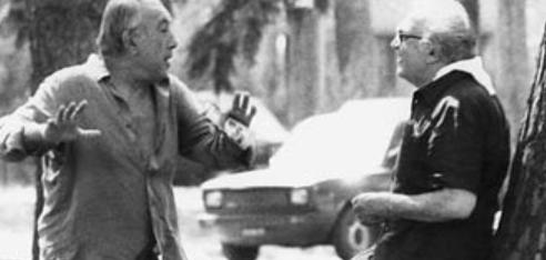 Anthony Quinn with Federico Fellini, c. 1970s