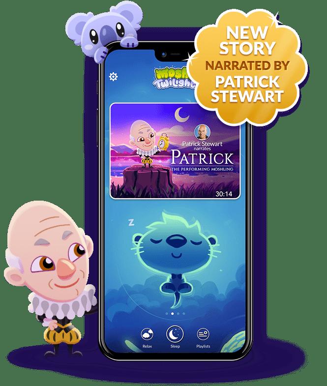 Moshi Twilight Stories Phone displaying app