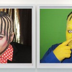 Boy George Totally Looks Like Ralph Wiggu, dual self-portraits by the artist Jaimie Warren, on view at the Hole. Photo credit: Courtesy of the artist and The Hole
