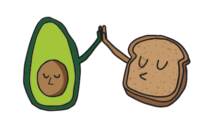 Avocado Toast and all their alphabet friends