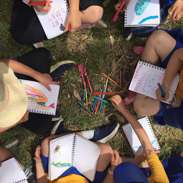 Journaling has been a vital creekulum practice... our journals are collective and they have flowed from young hands to older hands over the year... carrying memories, drawings and stories of the Merri Merri #flow #creativejournaling #wurundjericountry pic by @brionybarr from @scalefreenetwork