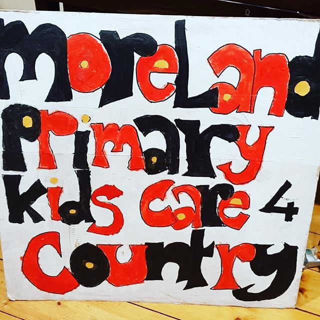 Moreland families getting ready to strike for climate action #climatestrike #morelandprimaryschool #careforcountry