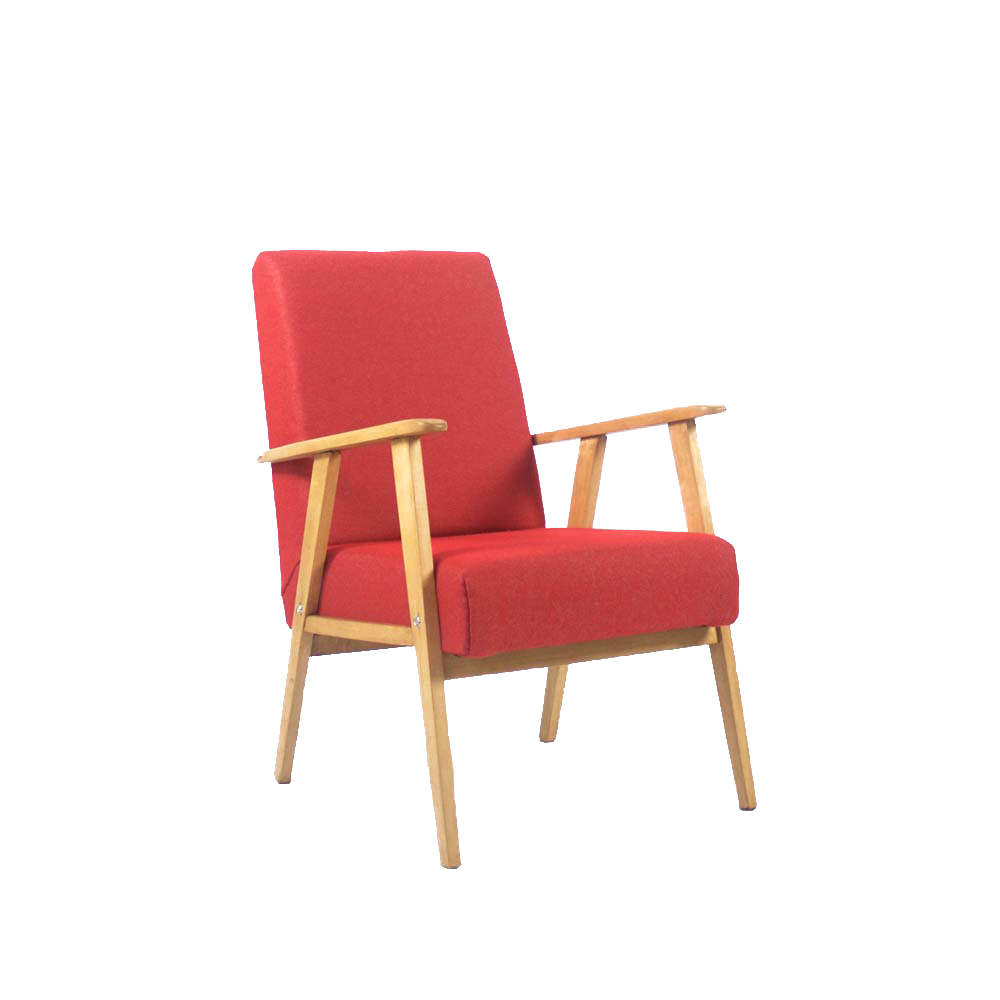 Design Fauteuil Rood.Vintage Fauteuil Rood Meublowski