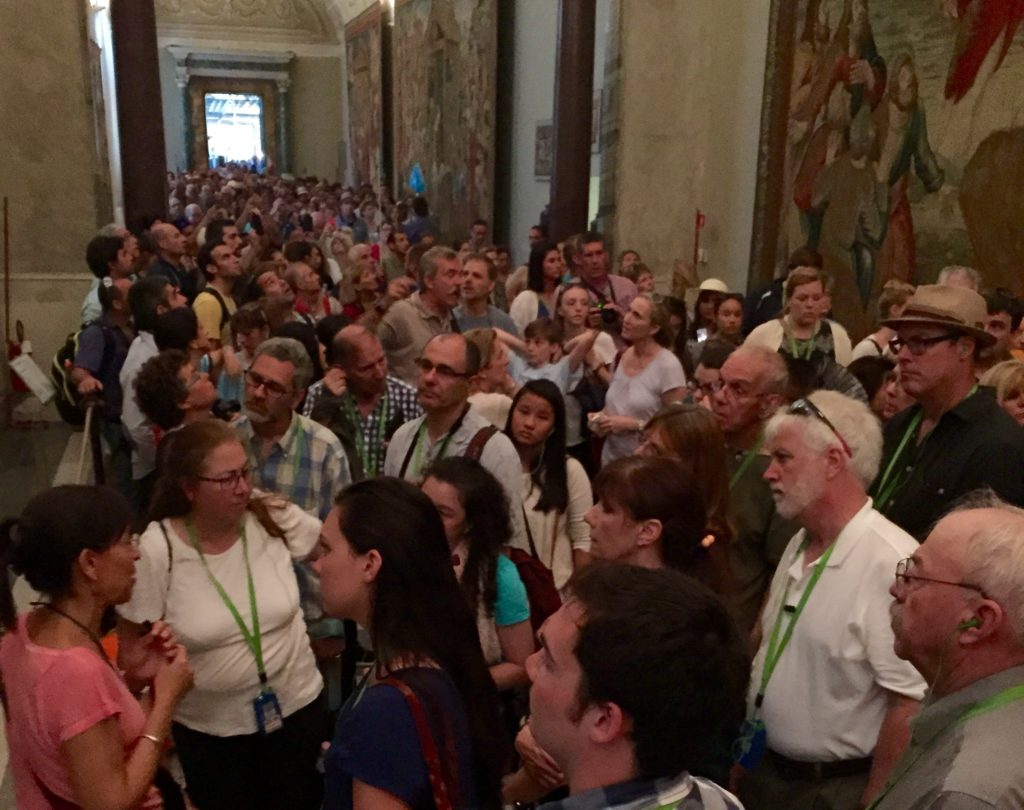 Vatican Museum crowd