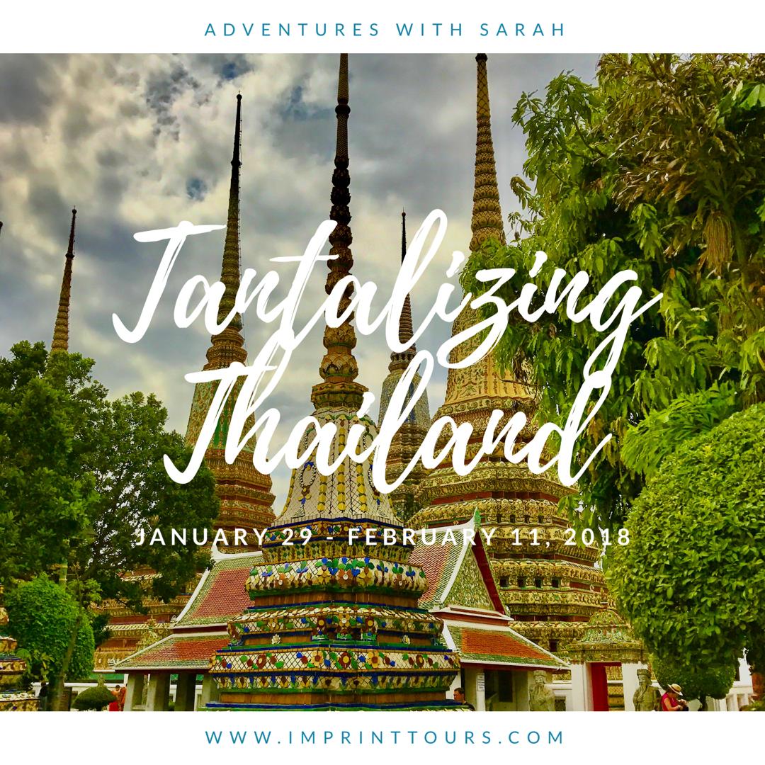 Adventures with Sarah Thailand Tour